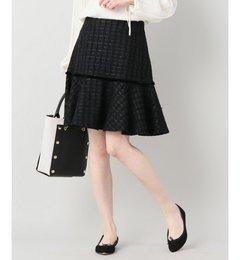 【イエナ/IENA】 IENA LA BOUCLE ファンシーツィード ペプラムスカート [送料無料]