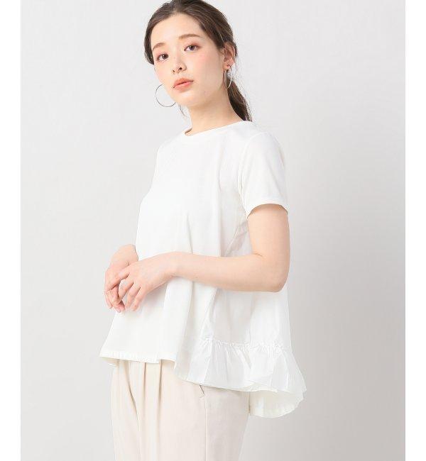 DANSKIN バックフリルTシャツ【イエナ/IENA レディス Tシャツ・カットソー ホワイト ルミネ LUMINE】
