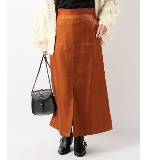 【イエナ/IENA】 ウールラメタイトスカート's image