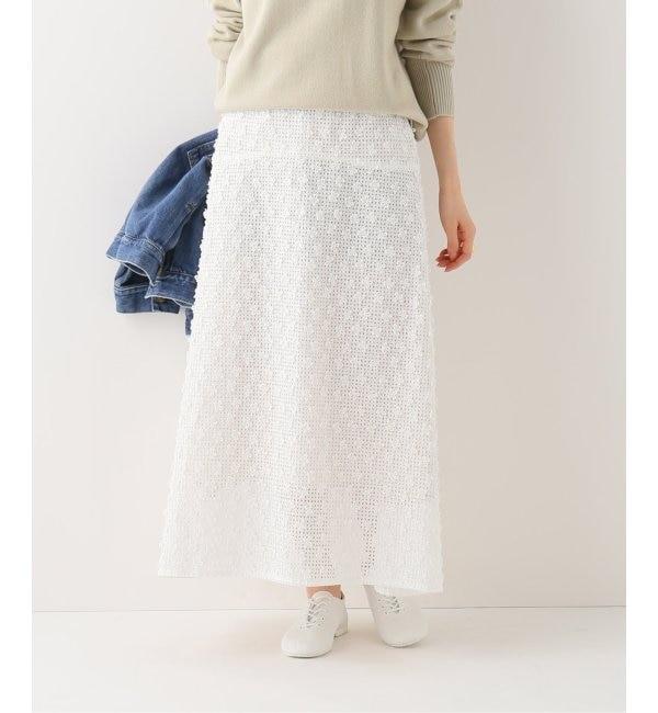 【イエナ/IENA】 3Dレーススカート