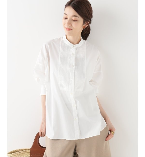 【イエナ/IENA】 100/2 コットンピンタックシャツ