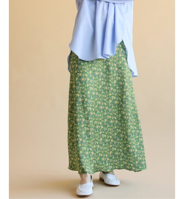 《予約》ウィステリア フラワースリットスカート◆