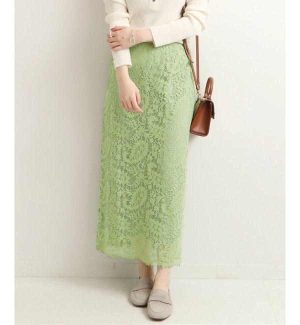 《予約》バイカラーレースタイトスカート◆