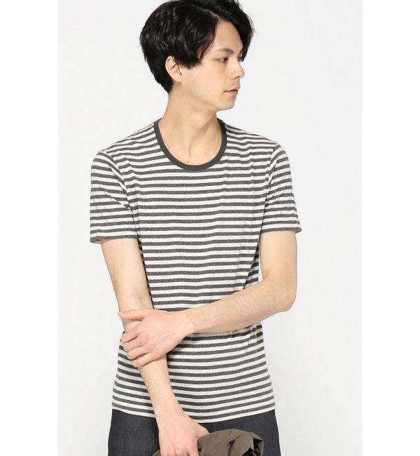 【エディフィス/EDIFICE】 C/RM TOPボーダーバインダーハイショクTシャツ [送料無料]