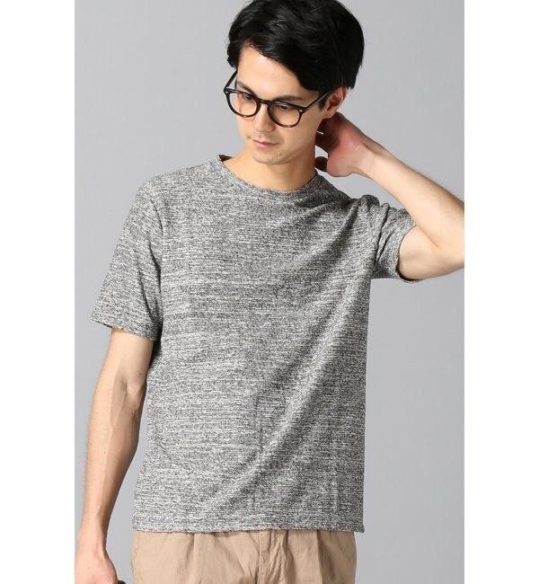 【エディフィス/EDIFICE】 ランダムパイルクルーネックTシャツ◆ [送料無料]
