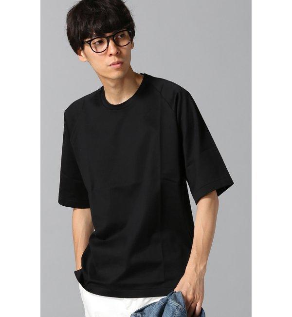 【エディフィス/EDIFICE】 40/2コーマテンジク シルケット ラグランオーバーTシャツ [送料無料]