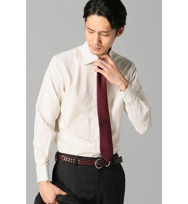 【エディフィス/EDIFICE】 ロンドンストライプセミワイドカラーシャツ [送料無料]