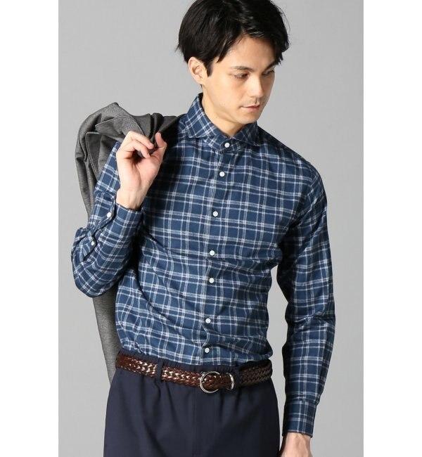 【エディフィス/EDIFICE】 BLUE CHECK PRINT スポーツシャツ [送料無料]
