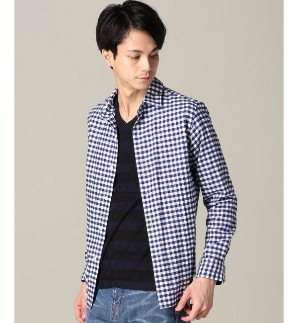 【エディフィス/EDIFICE】 ギンガムチェックネルセミワイドシャツ [送料無料]