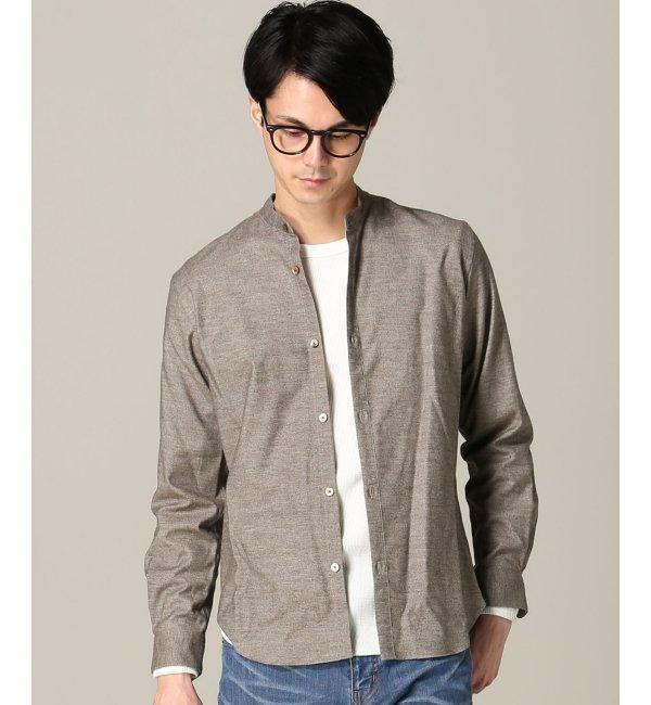 【エディフィス/EDIFICE】 イズミールネルバンドカラーシャツ [送料無料]