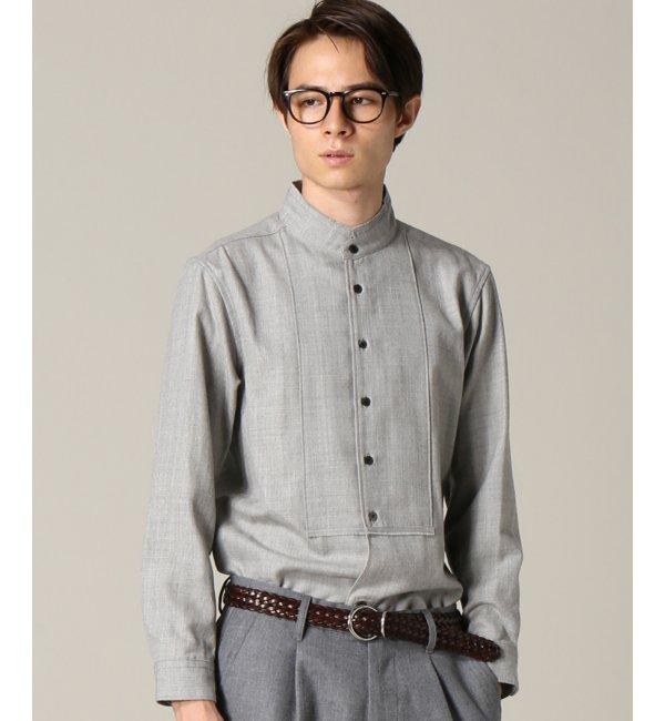 【エディフィス/EDIFICE】 SAGE DE CRET/サージスタンドカラーシャツ [送料無料]