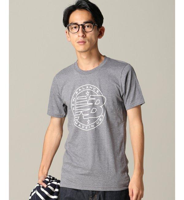 【エディフィス/EDIFICE】 NEW BALANCE/エンブレムTシャツ USA [3000円(税込)以上で送料無料]