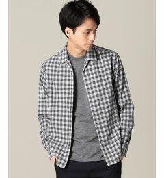 【エディフィス/EDIFICE】ブラッシュドチェックオープンカラーシャツ[送料無料]