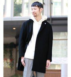 【エディフィス/EDIFICE】 ダブルウェイトクロスチェスターコート [送料無料]