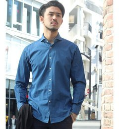 【エディフィス/EDIFICE】 MONTI/ WASHD DENIM スポーツシャツ [送料無料]