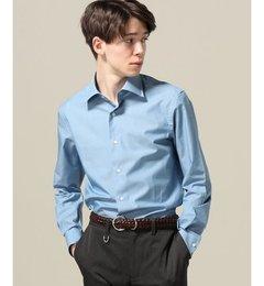 【エディフィス/EDIFICE】セミワイドツイルシャツ(ブルー)[送料無料]