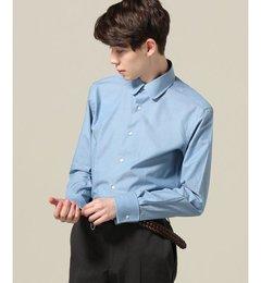 【エディフィス/EDIFICE】 ラウンドカラーシャツ(サックスブルー) [送料無料]