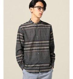 【エディフィス/EDIFICE】C/L/Rボーダーバンドカラーシャツ[送料無料]