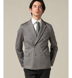 【エディフィス/EDIFICE】T400コンパクトカルゼダブルブレストジャケット[送料無料]