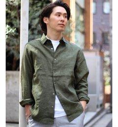 【エディフィス/EDIFICE】デラベリネンセミワイドシャツ◆[送料無料]