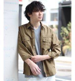 【エディフィス/EDIFICE】タイプライターファティーグシャツ◆[送料無料]