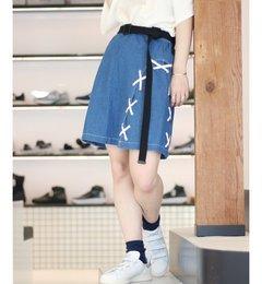 【エディフィス/EDIFICE】【PULP】サイドレースアップスカート[送料無料]