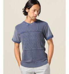 【エディフィス/EDIFICE】 クレイジーパッチ VネックTシャツ [送料無料]