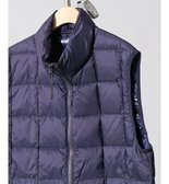 TAION / タイオン HI NECK W-ZIP DOWN VEST◆