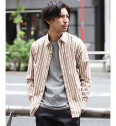 【エディフィス/EDIFICE】 ストライプタイプライターロールアップレギュラーカラーシャツ [送料無料]