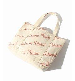 【エディフィス/EDIFICE】 MAISON KITSUNE / メゾンキツネ: SHOPPING BAG ALL-OVER MAI [送料無料]