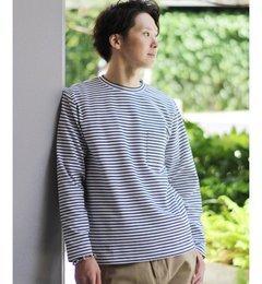 【エディフィス/EDIFICE】 40/-ベアポンチ ポケット クルーネック [送料無料]