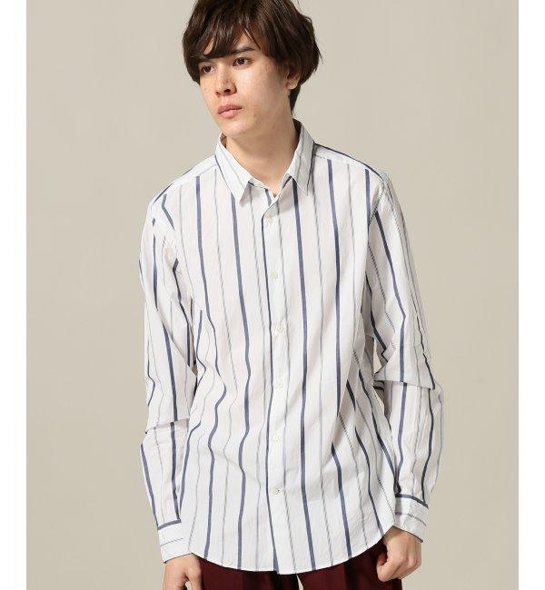 【エディフィス/EDIFICE】 100/2ブロード マルチストライプシャツ [送料無料]