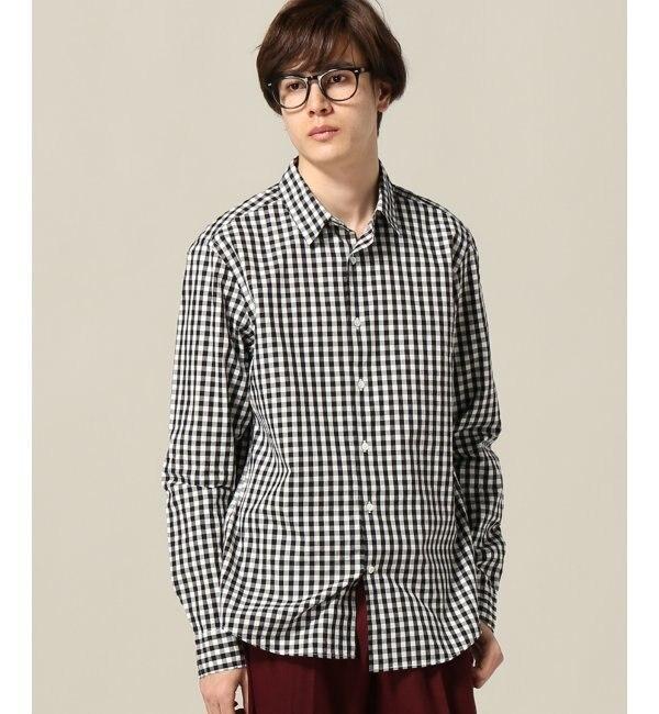 【エディフィス/EDIFICE】 100/2ブロードギンガムレギュラーシャツ [送料無料]
