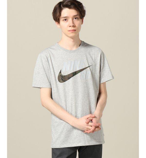 NIKE SB / ナイキ エスビー DRI-FIT コットンカモ Tシャツ【エディフィス/EDIFICE メンズ Tシャツ・カットソー グレー ルミネ LUMINE】