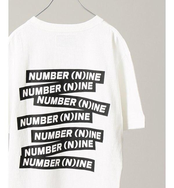 【エディフィス/EDIFICE】 NUMBER NINE DENIM / ナンバーナイン デニム 別注 スコアラインロゴTEE [3000円(税込)以上で送料無料]