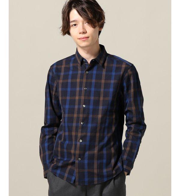 【エディフィス/EDIFICE】 40/2 ウェポンチェックRG シャツ