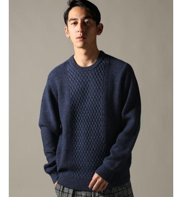 【エディフィス/EDIFICE】 5ゲージ EXTRA FINE Wool クルーネックニット