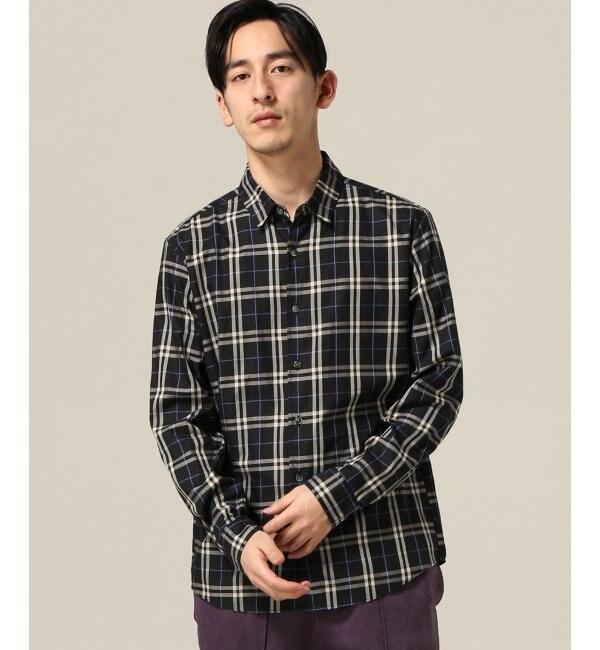 【エディフィス/EDIFICE】 60/-ツイルチェックシャツ