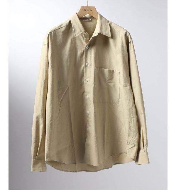 【エディフィス/EDIFICE】 AURALEE / オーラリー ウォッシュドフィンクス ツイルビッグシャツ
