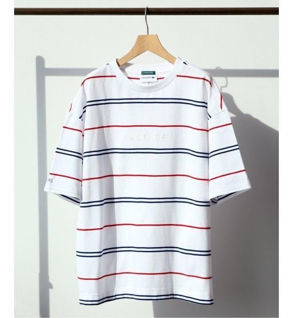 【エディフィス/EDIFICE】 LACOSTE / ラコステ別注 ボーダーTシャツ