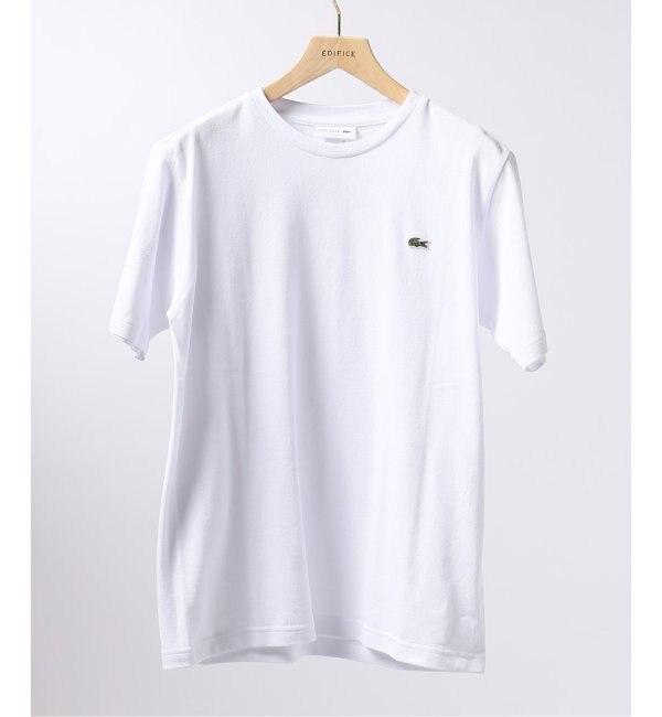 【エディフィス/EDIFICE】 LACOSTE / ラコステ カノコ クルーネック クラシックフィット Tシャツ