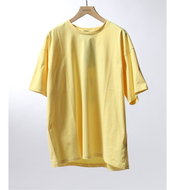 【エディフィス/EDIFICE】 ATON / エイトン OVERSIZED T-SHIRT NUBACK COTTON