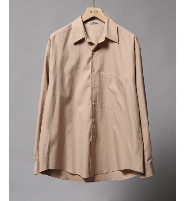 【エディフィス/EDIFICE】 AURALEE / オーラリー ウォッシュドフィンクスツイルビッグシャツ