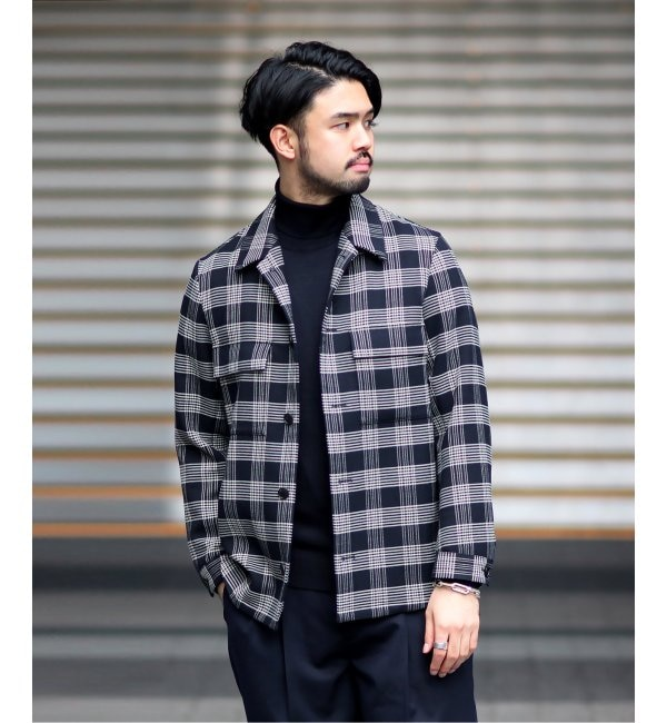 【エディフィス/EDIFICE】 ダブルフェイス CPO シャツジャケット