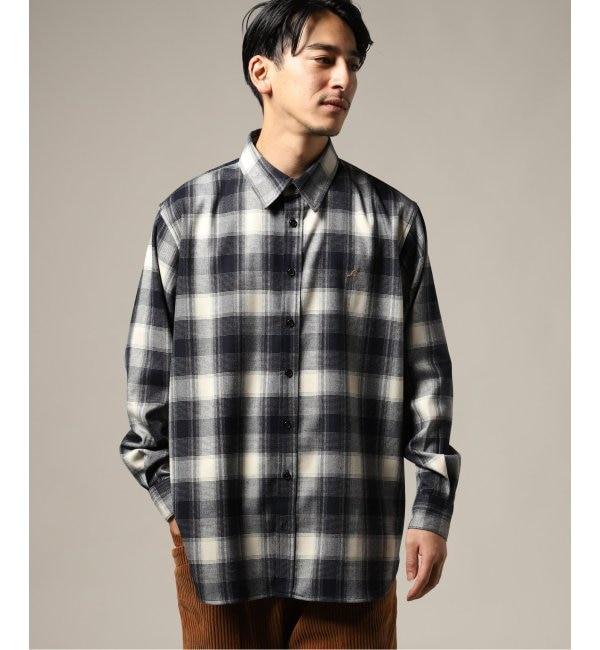 【エディフィス/EDIFICE】 【KANGOL / カンゴール】 別注フランネルビッグシャツ