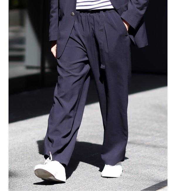 ファッションメンズお薦め 【エディフィス/EDIFICE】 LA BOUCLE(R) カクカンタックイージーパンツ トロタンブラー