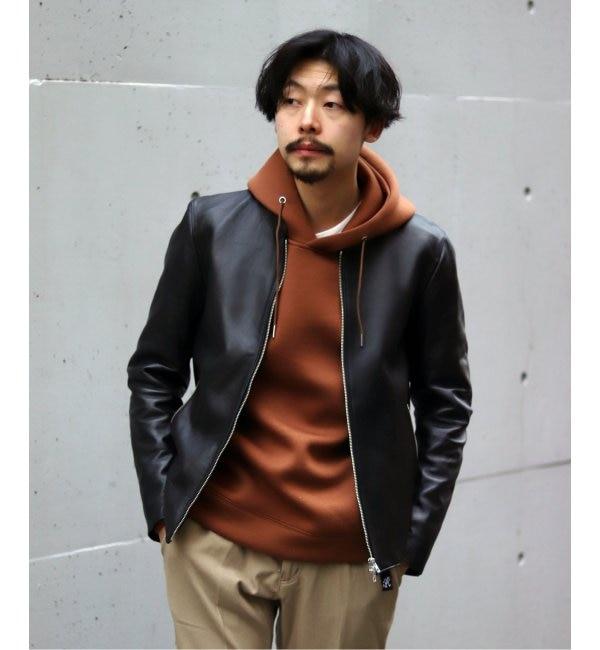 人気メンズファッション|【エディフィス/EDIFICE】 Lamb leather / ラム レザー シングルライダース ブルゾン