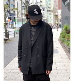 【LOWNN / ローン】 RELAXED DOUBLE BREASTED BLAZER