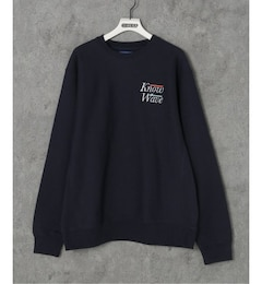 【KNOW WAVE / ノウ ウェーブ】 SERIF EMBROIDERED CREWNECK