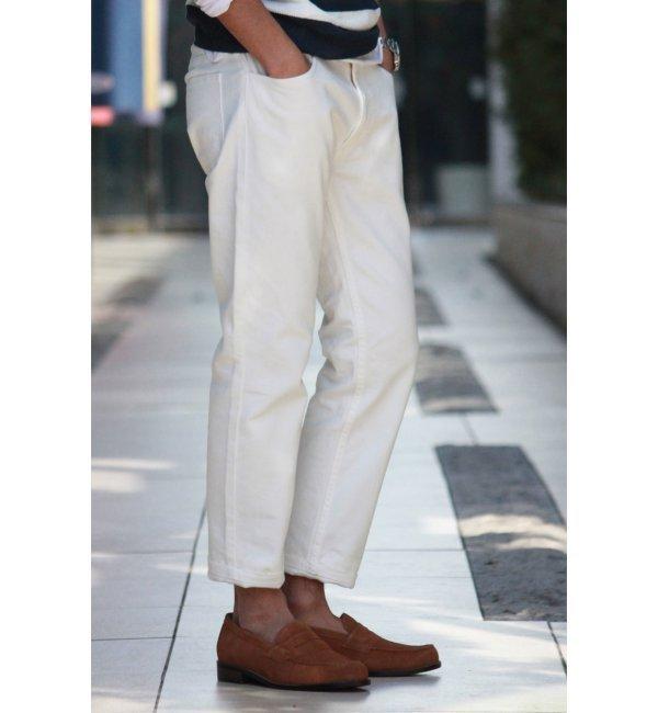 メンズファッションオススメ|ヴィンテージホワイトデニムスタプレ